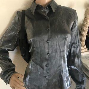Shiny silver blouse